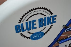 "Washington and Lee University provides 60 ""Blue Bikes,"" free bikes that are shared in the Lexington community."